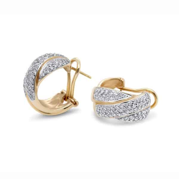 designyard vintage jewellery edit 14k yellow gold diamond huggy earrings contemporary jewellery gallery dublin ireland antique jewelry