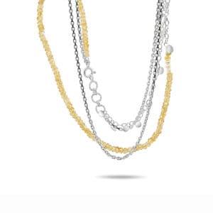 neeltje huddleston slater sterling silver citrine pearl leaf necklace designyard contemporary jewellery gallery dublin ireland handmade jewelry design designer irish jewellers shop