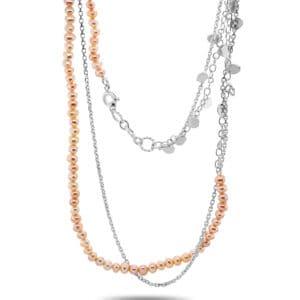 neeltje huddleston slater sterling silver pink pearl leaf necklace designyard contemporary jewellery gallery dublin ireland handmade jewelry design designer irish jewellers shop