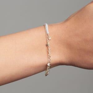 neeltje huddleston slater sterling silver white pearl leaf bracelet designyard contemporary jewellery gallery dublin ireland handmade jewelry irish jewellers design designer shop