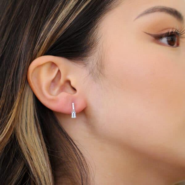 ronan campbell platinum aquamarine diamond drop earrings designyard contemporary jewellery gallery dublin ireland handmade irish jewellers jewelry design designer shop
