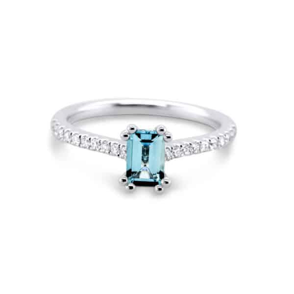 ronan campbell platinum aquamarine diamond engagement ring designyard contemporary jewellery gallery dublin ireland alternative engagement ring handmade irish design designer jewellers shop jewelry