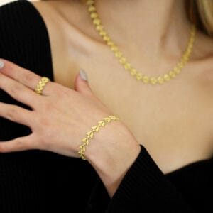 necklace bracelet ring Emilia by Brigitte Adolph at DesignYard contemporary jewellery gallery Dublin Ireland