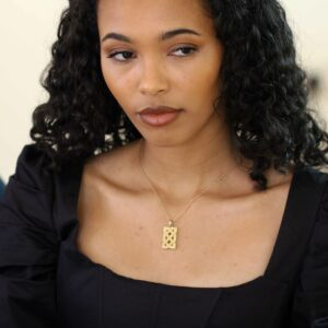 designyard 10k yellow gold celtic knot pendant contemporary jewelry gallery dublin ireland irish jewellers jewelry shop design designer