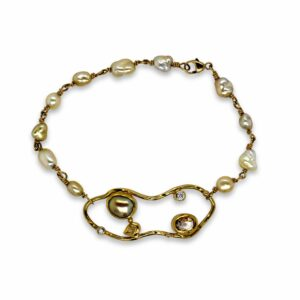 Cloud bracelet by Josephine Bergsoe at DesignYard contemporary jewellery gallery dublin ireland