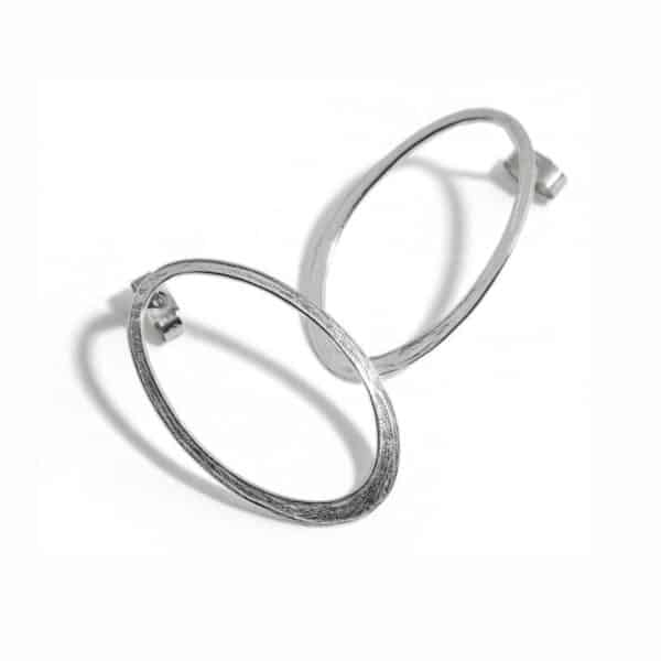 latham and neve sterling silver halo earrings designyard contemporary jewellery gallery dublin ireland