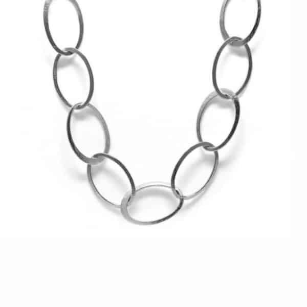 latham and neve sterling silver halo long necklace designyard contemporary jewellery gallery dublin ireland handmade jewelry design designer irish jewellers shop