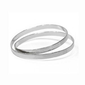 latham and neve sterling silver spangle infinity bangle designyard contemporary jewellery gallery dublin ireland handmade jewelry design designer irish jewellers shop
