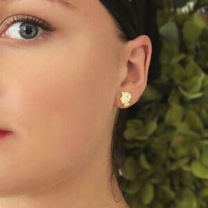 mirri damer silver gold crown earrings designyard contemporary jewellery gallery dublin ireland handmade jewelry design designer irish jewellers shop