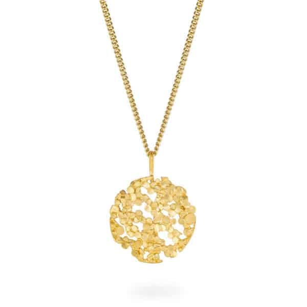 mirri damer silver gold disco pendant designyard contemporary jewellery gallery dublin ireland handmade jewelry design designer irish jewellers shop