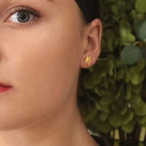 mirri damer silver gold dune earrings designyard contemporary jewellery gallery dublin ireland handmade jewelry design designer irish jewellers shop