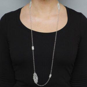 Turandot oxidised silver sautoir by brigitte adolph at desingyard contemporary jewellery gallery dublin ireland