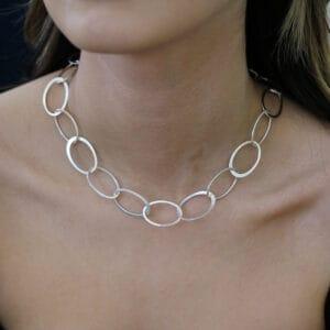 latham and neve sterling silver short halo necklace designyard contemporary jewellery gallery dublin ireland handmade jewelry design designer irish jewellers shop