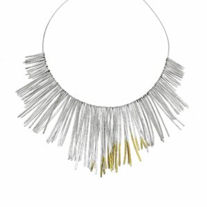 Large Shimmer Fringe Necklace by Kokkino at DesignYard Contemporary Jewellery Dublin