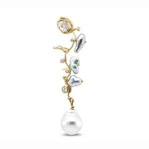 Filuka Single Earring by Josephine Bergsoe at DesignYard Contemporary Jewellery Dublin Ireland