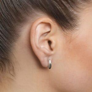 paul finch sterling silver small shell earring designyard contemporary jewellery gallery dublin ireland handmade jewelry design designer irish jewellers shop