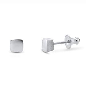 paul finch sterling silver square stud earrings designyard contemporary jewellery gallery dublin ireland handmade jewelry design designer irish jewellers shop