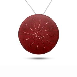 roger bennett sterling silver coloured maple pendant with silver inlay designyard contemporary jewellery gallery dublin ireland handmade jewelry design designer irish jewellers shop