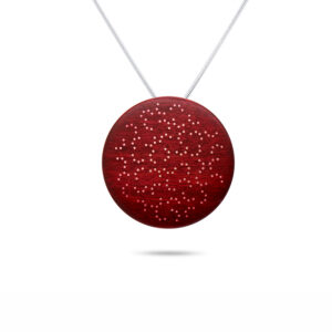 roger bennett sterling silver red coloured maple enigma pendant with silver inlay designyard contemporary jewellery gallery dublin ireland handmade jewelry design designer irish jewellers shop