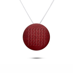 roger bennett sterling silver red coloured zig zag pendant with silver inlay designyard contemporary jewellery gallery dublin ireland handmade jewelry design designer irish jewellers shop