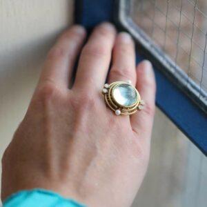 blue beryl dawn sol horizon ring by shimell and madden at designyard contemporary jewellery dublin ireland
