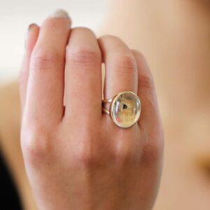 Enhydro quartz ring by stephanie robinson at designyard contemporary jewellery dublin ireland
