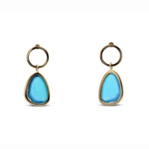 natural lilac turquoise drop earrings by stephanie robinson at designyard contemporary jewellery dublin ireland