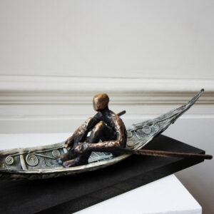 clodagh redden bronze sculpture the boatman designyard dublin ireland contemporary sculpture gallery dublin ireland