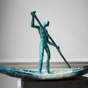 clodagh redden green bronze sculpture charon the ferry man designyard dublin ireland contemporary sculpture gallery dublin ireland handmade art design designer irish shop jewellers