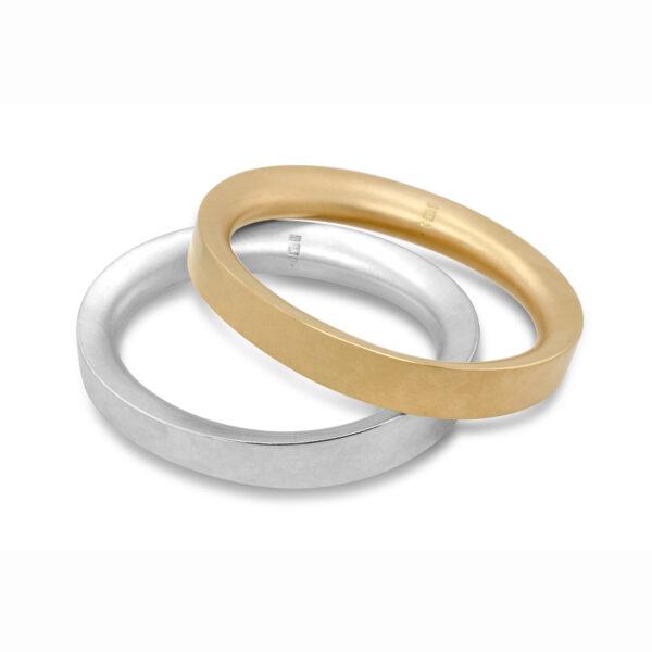 erik urbschat 18k yellow gold unrund bangle designyard contemporary jewellery gallery dublin ireland