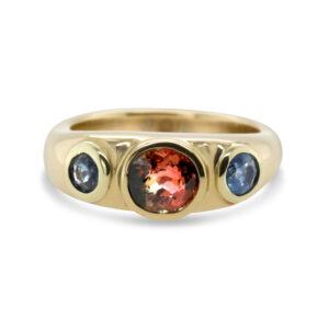 friederike grace yellow gold tourmaline sapphire engagement ring designyard contemporary jewellery gallery dublin ireland handmade jewelry design designer irish jewellers shop