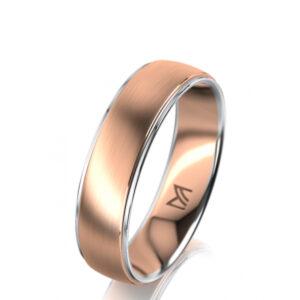 meister 18k rose white gold wedding ring designyard contemporary jewellery gallery dublin ireland wedding rings irish design designer jewellers shop