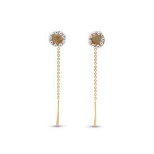 neeltje slater silver 14k yellow gold enamel threader earrings designyard contemporary jewellery gallery dublin ireland handmade jewelry design designer irish jewellers shop